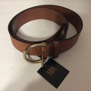 FRYE  Brown Leather Campus Belt Size Large